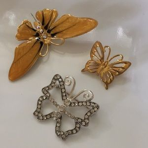 Bundle of butterfly Brooches